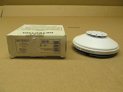 1 Nib Edwards 281B Heat Detector 6-125Vac 135°F Fixed Temperature & Rate Of Rise