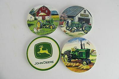 Set of 4 John Deere Ceramic Coasters