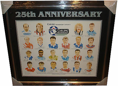 Premiership Captains Limited Ed 25th Anniversary SIGNED AUTOGRAPHS by 22 AFTAL
