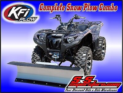 "KFI ATV 60"" Snow Plow Kit Combo Polaris Sportsman ETX, 570 2014-2017"