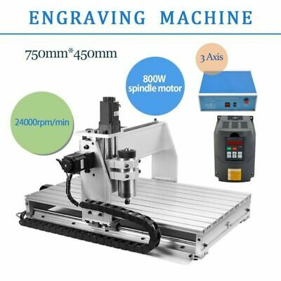 TOP CNC Router Engraver Milling Machine Engraving Drilling 3 Axis 6040 Desktop