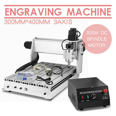3 AXIS CNC Router Engraver 3D Engraving Drilling Milling Machine 230W 3040 TOP