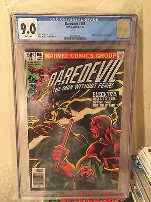 Daredevil #168 - CGC 9.0 White Pages - 1st Appearance Elektra