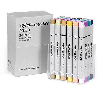 Artist Stylefile Marker Brush Pen Set of 24 – Set B