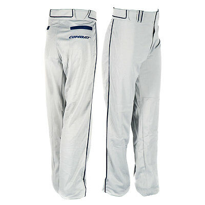 Combat Stock Adult Baseball/Softball Pant with Piping - Grey/Navy - XXL