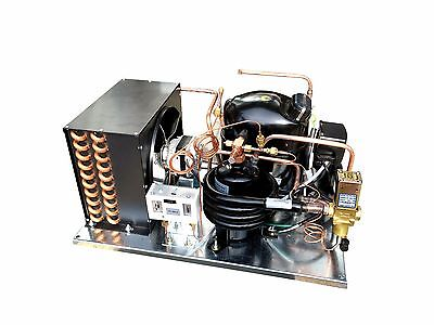 Combo Air+Water Cooled Condensing Unit 1/2 HP, Med Temp, R134a, 115V (KB9437Y-1)