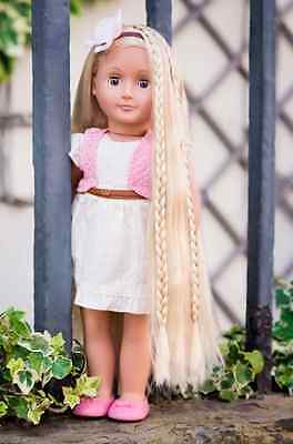 Girls Hair Play Doll Practice Styling Set Our Generation Phoebe Blonde Kids NEW