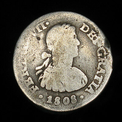 1808 Mexico 1/2 Real - silver  Charles IIII