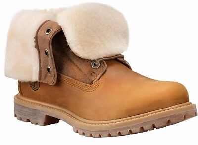 41b15cfb4d1a1 Women's Timberland Authen SHEARLING FOLD-DOWN BOOT, Wheat A16CR231 Sizes  6.5-10