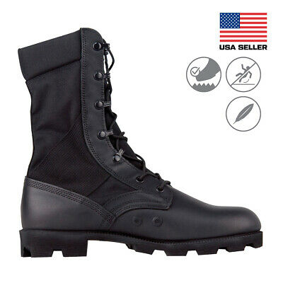 [FINAL SALE] Black 9''  Military Combat Jungle Boots with Vulcanized Sole