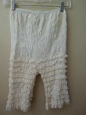 Vintage Off-White Women's Lacy Pantaloons Petti Pants with Ruffles