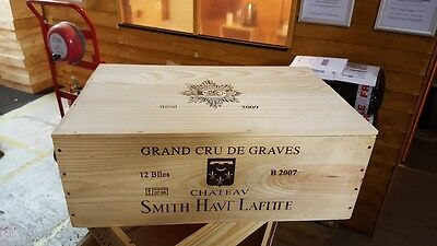 1 X 12 Bottle Wine Box With Lid - Wooden Crate Gift Christmas Hamper Retro