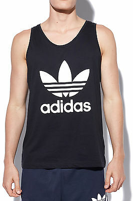 New ADIDAS Mens Trefoil Tank Black/White Most Wanted