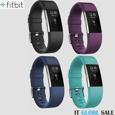 GENUINE New Fitbit Charge 2 Wireless Bluetooth HR Heart Rate Fitness Wristband S