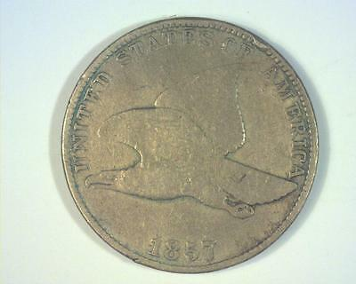 1857 FLYING EAGLE CENT *Nick* FINE ~344564-OE