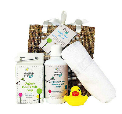 Absolutely Gorgeous Squeaky Clean Baby Bath Gift Set - Gift Pack for Baby