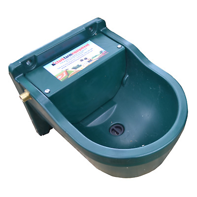 Animal Water Trough 9.3L &  Automatic Float - Fence Drinker Horse Cattle Cat Dog