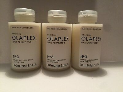 3 x OLAPLEX NO.3 HAIR PERFECTOR 100ml x 3 100% BRAND NEW, Authentic & Sealed
