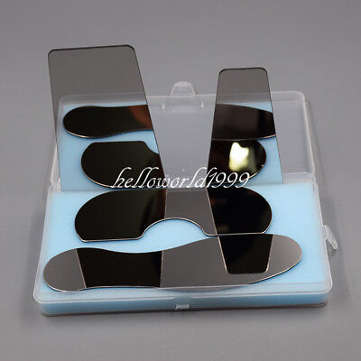 4 Pcs Dental Nickel Intra-Oral Stainless Steel Photographic Mirror Reflector
