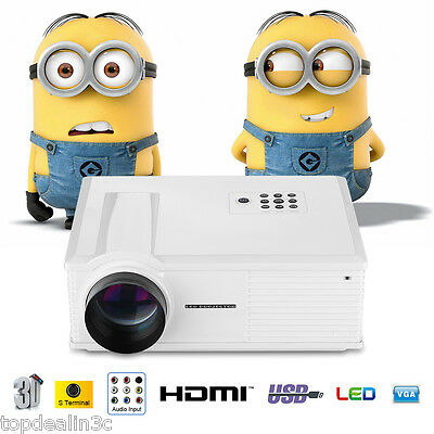 Excelvan LED Proyector 3200 Lúmenes HD 1280x800  Multimedia HDMI DVD VGA USB ATV
