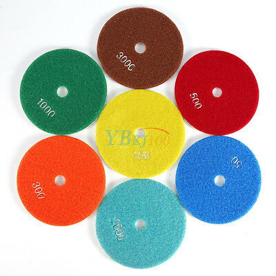 5 inch 125mm Diamond Polishing Pads Individual Grits Grinding Disc for Granite