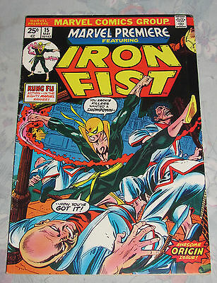 1974 Marvel Premiere #15 1st Appearance Iron Fist with Value Stamp 5.0 VG/FN