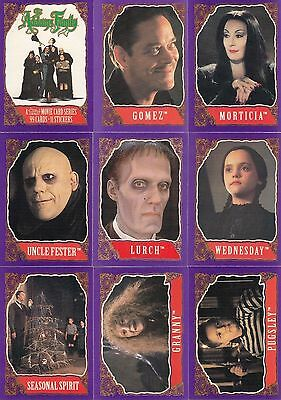 Addams Family - Trading Card + Sticker Set (99/11) - 1991 TOPPS - NM