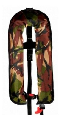 Camouflage Fishing life jacket ISO 165N Auto or Manual Variations
