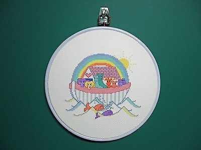 "Wall Hanging-Cross Stitch ""Noahs Ark"" (Completed)"