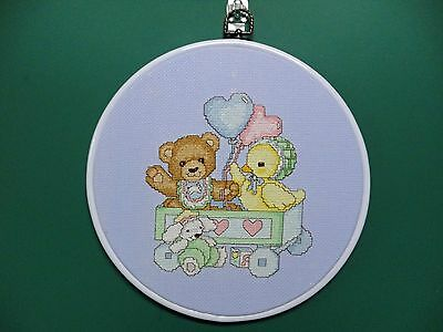 "Wall Hanging-Cross Stitch  ""Teddys' toy box"" (Completed)"
