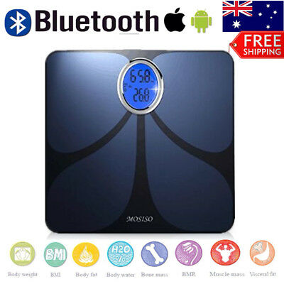 Bluetooth Body Fat Scale With Smart Health Monitor APP Weight/Fat/BMI/BMR/Water
