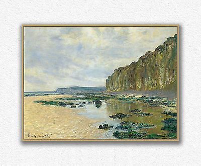 Claude Monet  Low Tide at Varengeville  60 × 81 cm   STAMPA SU TELA CANVAS