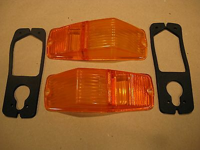 MGB or Triumph new Lucas front FLASHER/MARKER LAMP LENS & Gasket Set