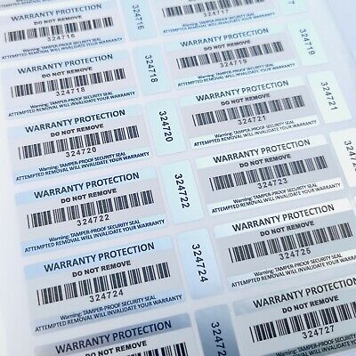 Tamper Proof Warranty Void Stickers Barcode Double Labels Void If Removed