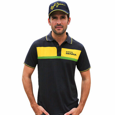 Ayrton Senna Polo-Shirt Racing