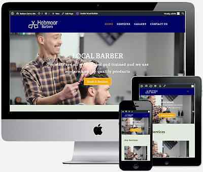 Barbers 5 Page Business Website