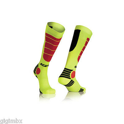 Acerbis Calze Calzettoni Mx Impact Socks Giallo Rosso Yellow Red N 39 40 41 S/m