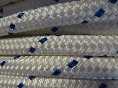 """1/2"""" x 100 ft.Premium Double Braid Polyester rope hank. Pre-Cut. US Made."""