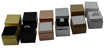 10 High Quality Ring Earring Jewellery Boxes Gift Presentation Colour Choice