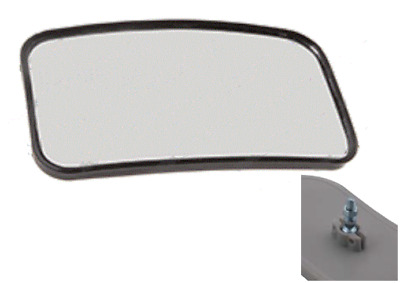 "Rearview Mirror for forklifts fits many models 8"" x 4.5"" (3125711)"