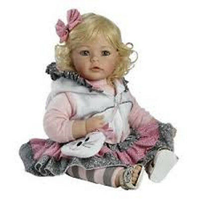 """Adora 20"""" BABY PLAY DOLL THE CAT'S MEOW Cuddle Toddler Blonde Hair Blue Eyes NEW"""