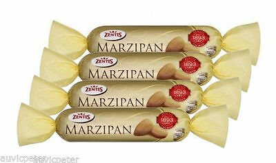 4 Bars Zentis MARZIPAN Covered in Dark Chocolate 4x200g