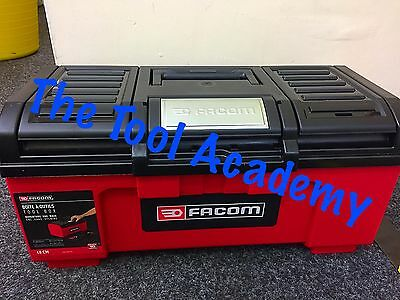 """Facom New Release Large Self Closing 24"""" Toolbox  With Inner Tray Black - Red"""