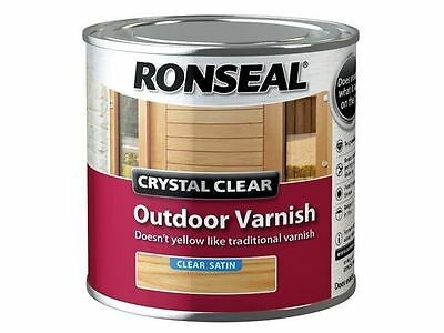 Ronseal - Crystal Clear Outdoor Varnish Satin 250ml