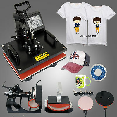 8 in 1 Heat Press Machine Transfer Sublimation T-Shirt Mug Plate Cap Printing