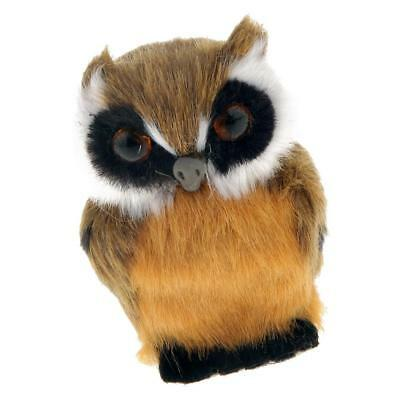 Vivid Furry OWL Mini Plush Kid Toy Decorative Collectible Animals Statue #1
