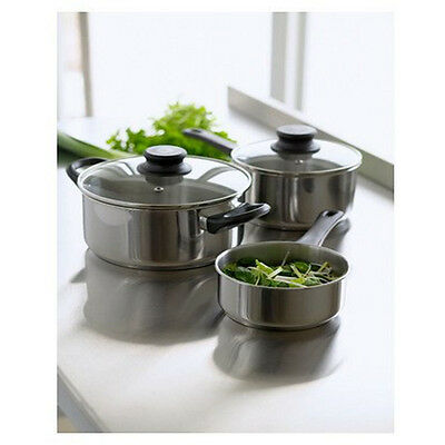 tefal intuition stainless steel 5 piece pan set induction ready saucepans pack. Black Bedroom Furniture Sets. Home Design Ideas