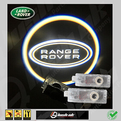 *ghost Logo Laser Projector Door Under Puddle Lights Range Rover Vogue With Ring