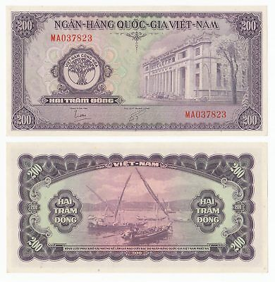 SOUTH VIETNAM 200 Dong 1958 P-9 UNC Uncirculated