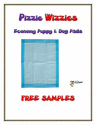 """200ct 23x24"""" Pizzie Wizzies Economy Puppy-Piddle-Pee Wee Dog Pads FREE SAMPLES"""